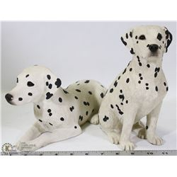 SET OF 2 SANDICAST DALMATIAN DOG
