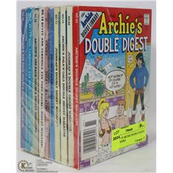 PACK OF 10 ARCHIE DOUBLE DIGEST COMIC BOOKS
