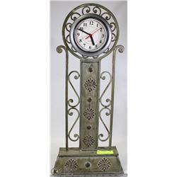 "28"" METAL SCROLL CLOCK"