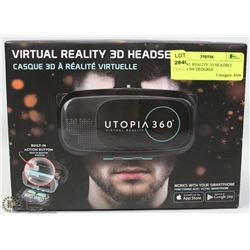 VIRTUAL REALITY 3D HEADSET UP TO 360 DEGREES