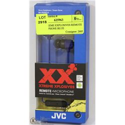 JVC EXTREME EXPLOSIVES REMOTE & MICROPHONE BLUE