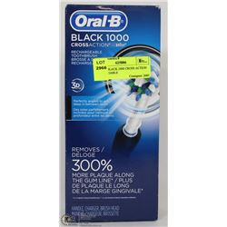 ORAL B BLACK 1000 CROSS ACTION RECHARGEABLE