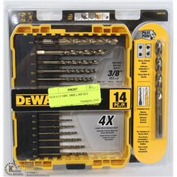 DEWALT 14PC  DRILL BIT SET