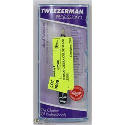 TWEEZERMAN ZEBRA COLOR SLANT TWEEZERS