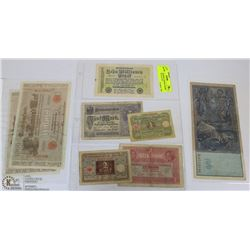 LOT OF ASSORTED GERMAN MARK BILLS FROM 1910-1923