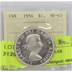1954 ICCS MS63 SILVER DOLLAR
