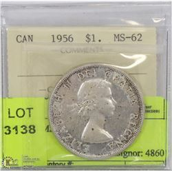 1956 ICCS MS62 SILVER DOLLAR