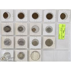 LOT OF CANADIAN COINS WITH 1965 SILVER DOLLAR