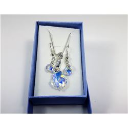 GENUINE SWAROVSKI PENDANT & EARRINGS
