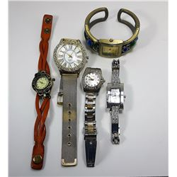 LOT OF 5 LADIES WATCHES