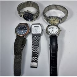 LOT OF 5 MEN'S WATCHES