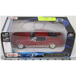 MAISTO 1967 FORD MUSTANG GT DIECAST SCALE 1:24