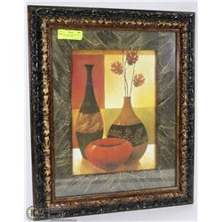 FRAMED MATTED WINE BOTTLE DECORATIVE PICTURE