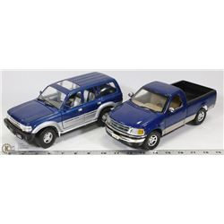 LOT OF TWO 1:18 SCALE DIE CAST INCL FORD TRUCK &