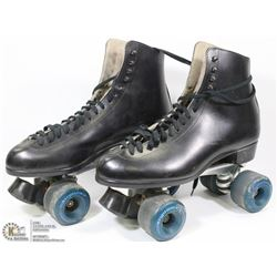 VINTAGE SURE GRIP LEATHER ROLLER SKATES