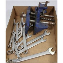 14 MASTERCRAFT WRENCHES & VISE