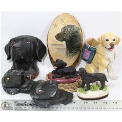 LOT OF 7 ASSORTED LABRADOR ORNAMENTS
