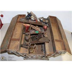 ANTIQUE TOOLBOX W/ ANTIQUE TOOLS