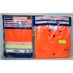 2 ALL TASK RASK FIRE RETARDANT RAINCOATS