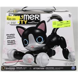 NEW IN BOX INTERACTIVE ROBOTIC KITTY SHE PLAYS,