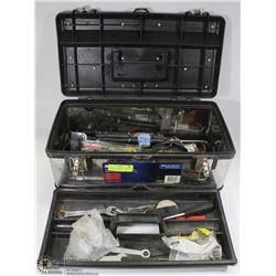 MASTERCRAFT PLASTIC/STAINLESS STEEL TOOL BOX W/