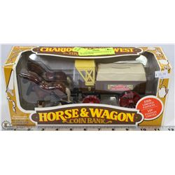 ERTLE LIMITED EDITION HORSE & WAGON BANK