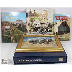 THE STORY OF CANADA BOOK W/ GOLD FOIL STAMPS AND