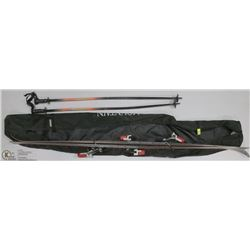 FISCHER RC4 SKIS W/ POLES AND CARRYING BAG