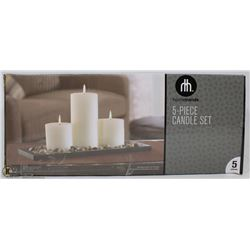 HOMETRENDS 5PC CANDLE SET