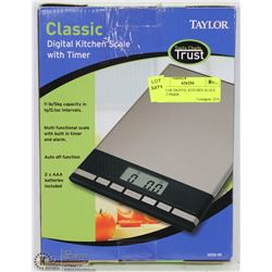 TAYLOR DIGITAL KITCHEN SCALE WITH TIMER