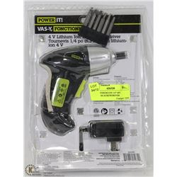 "FIT IT LITHIUM ION 1/4"" 6PC CORDLESS SCREWDRIVER"