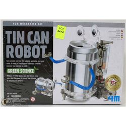 TIN CAN ROBOT - FUN MECHANICS KIT- GREEN SCIENCE
