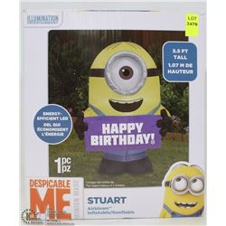MINIONS HAPPY BIRTHDAY INFLATABLE TOY 3-1/2FT TALL