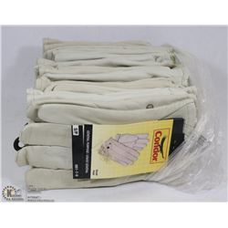 BUNDLE OF 12 LEATHER CONDOR LINED ROPER GLOVES