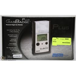 GAS BADGE PLUS PERSONAL SINGLE GAS MONITOR