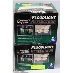 LOT OF 2 REGENT 300W DECORATIVE HALOGEN FLOODLIGHT