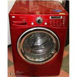 RED LG STEAM FRONT LOAD WASHER