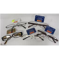 LOT OF 5 READING GLASSES STRENGTH +1.75