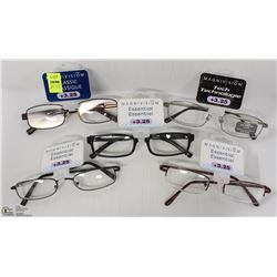 LOT OF 5 READING GLASSES STRENGTH +3.25