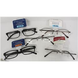 LOT OF 5 READING GLASSES STRENGTH +1.75 TO +2.25