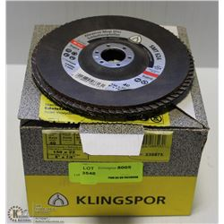 BOX OF 10 40 GRIT ABRASIVE MOP DISCS
