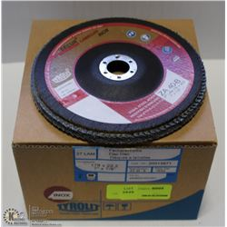BOX OF TYROLIT 27 LAM FLAP DISCS