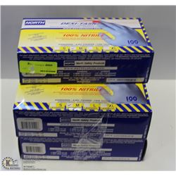 NORTH SIZE MEDIUM NITRILE GLOVES 5 BOXES TOTAL