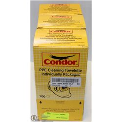 3 BOXES OF CONDOR PPE CLEANING TOWELETTES