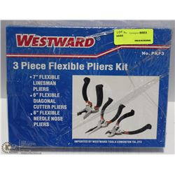 3 PIECE WESTWARD FLEXIBLE PLIER SET