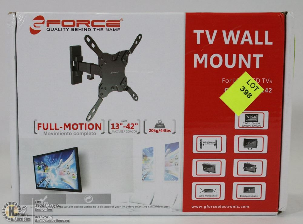 G Force Full Motion Tv Wall Mount 13 To 42 Tv