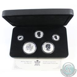 2004 Canada Silver Maple Leaf Privy 5-coin Fine Silver Set (TAX Exempt). Coins come encapsulated in