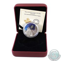 2016 Canada $20 The Universe Glass with Opal Glow-In-Dark 1oz Fine Silver Coin (TAX Exempt). This $2