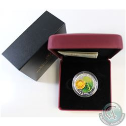 2014 Canada $20 Water-Lily & Venetian Glass Leopard Frog 1oz Fine Silver Coin (TAX Exempt). This coi