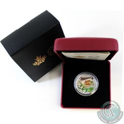 2015 Canada $20 Venetian Glass Turtle & Broadleaf Flower 1oz Fine Silver Coin (TAX Exempt). This coi